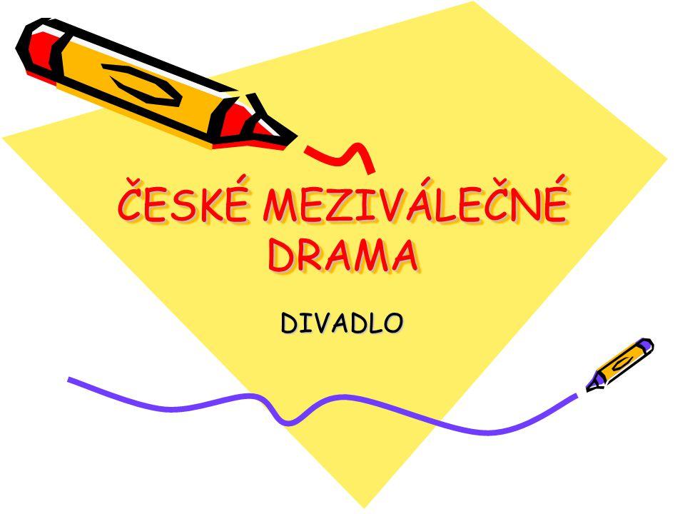 1) OFICIÁLNÍ DIVADLO Národní divadlo, Městské divadlo na Vinohradech Např.