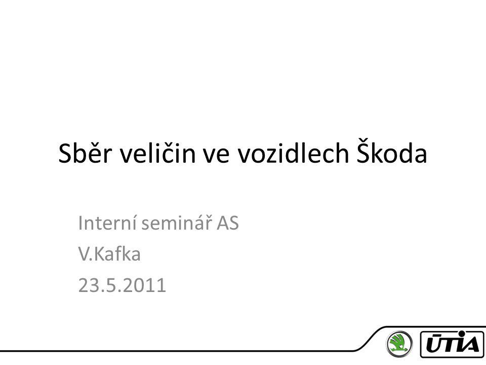Sběr veličin ve vozidlech Škoda Interní seminář AS V.Kafka 23.5.2011