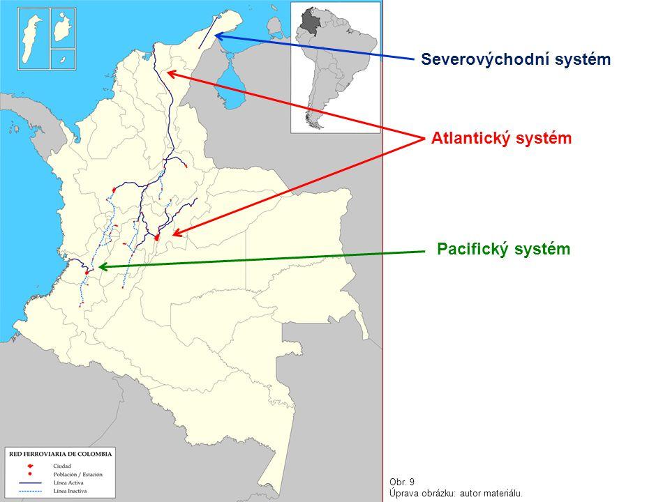 Severovýchodní systém Atlantický systém Pacifický systém Obr. 9 Úprava obrázku: autor materiálu.