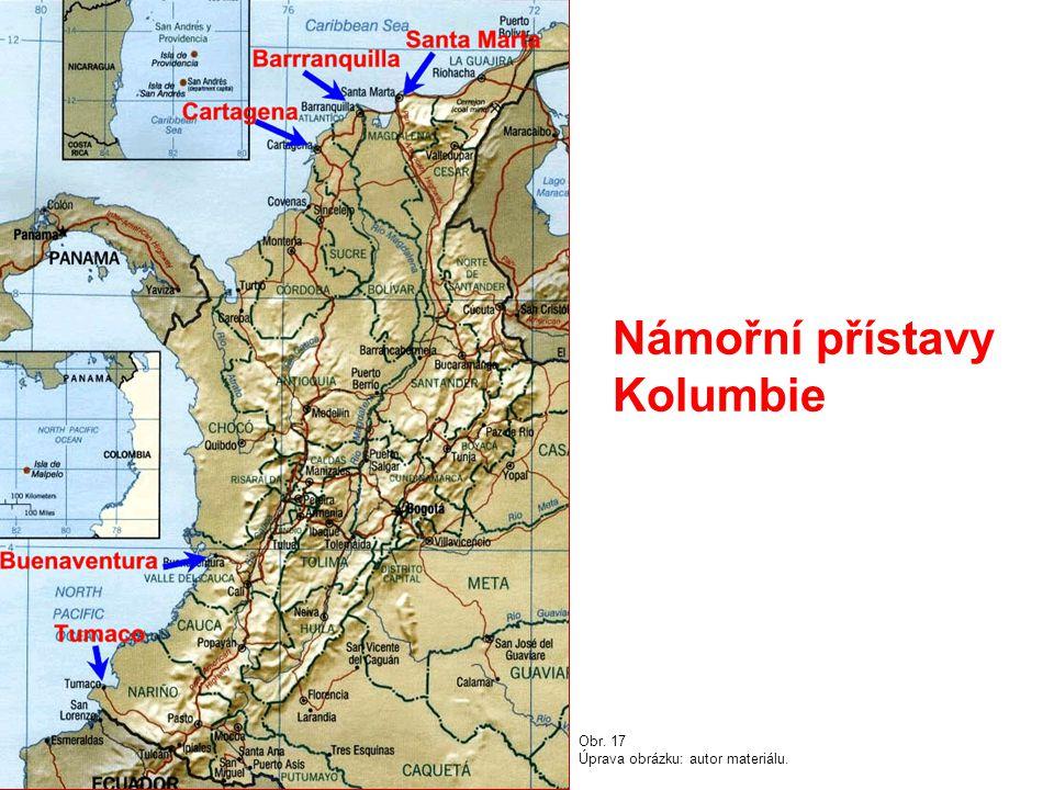 Námořní přístavy Kolumbie Obr. 17 Úprava obrázku: autor materiálu.