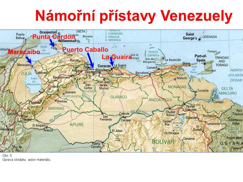 Námořní přístavy Venezuely Obr. 5 Úprava obrázku: autor materiálu.