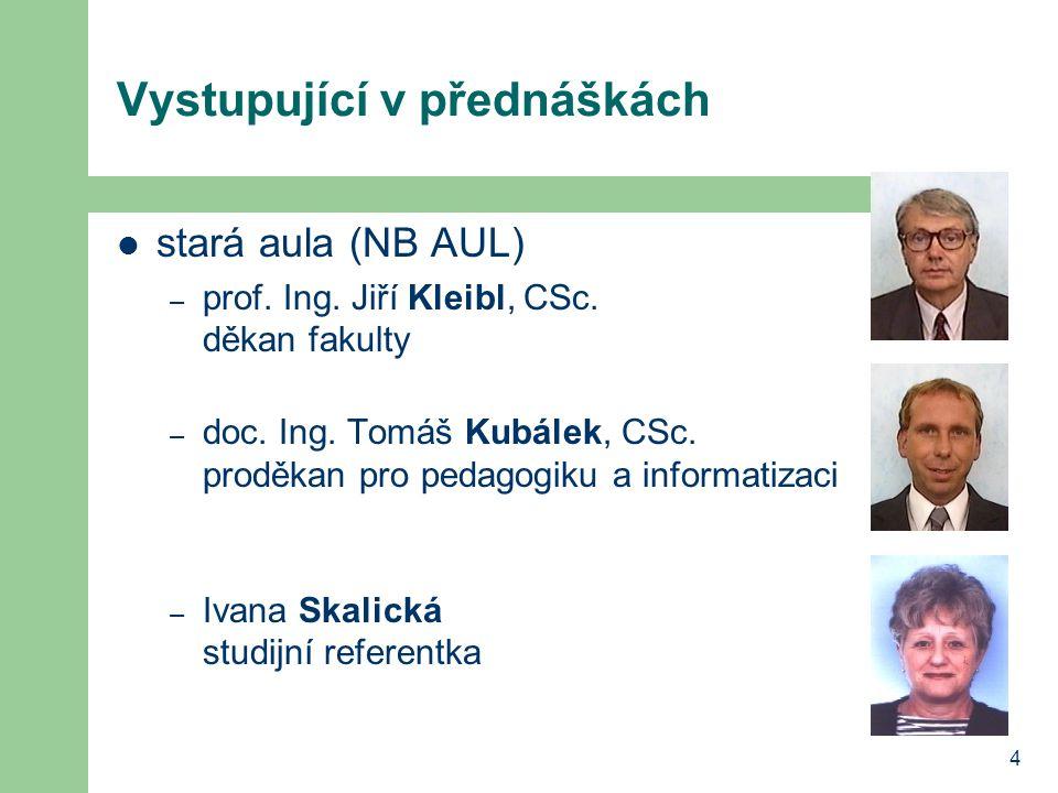 5 Vystupující v přednáškách nová aula (NB MAX) – prof.