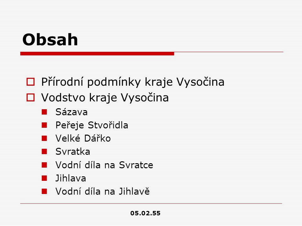 KRAJ VYSOČINA původní název Jihlavský kraj 05.02.55