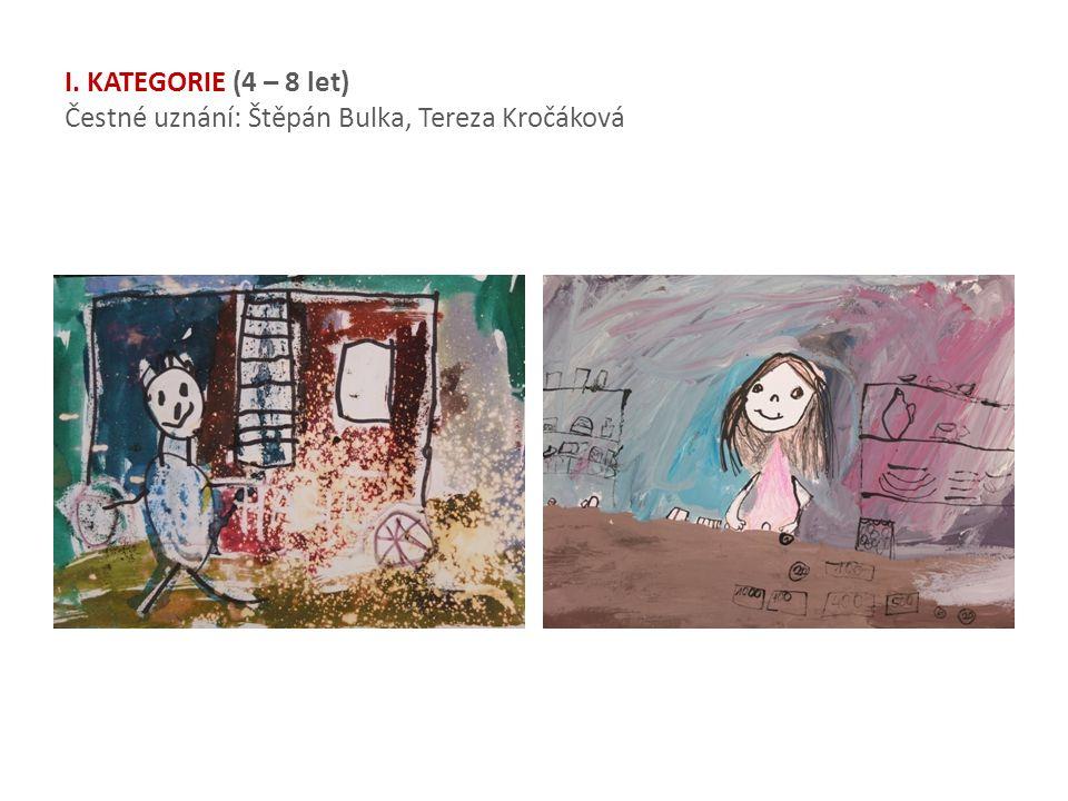 I. KATEGORIE (4 – 8 let) Čestné uznání: Štěpán Bulka, Tereza Kročáková