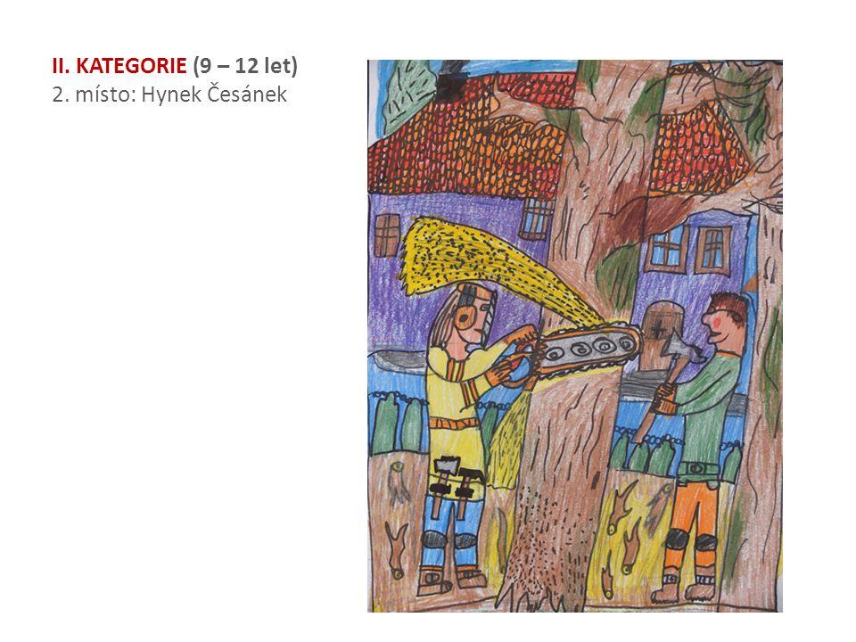 II. KATEGORIE (9 – 12 let) 2. místo: Hynek Česánek
