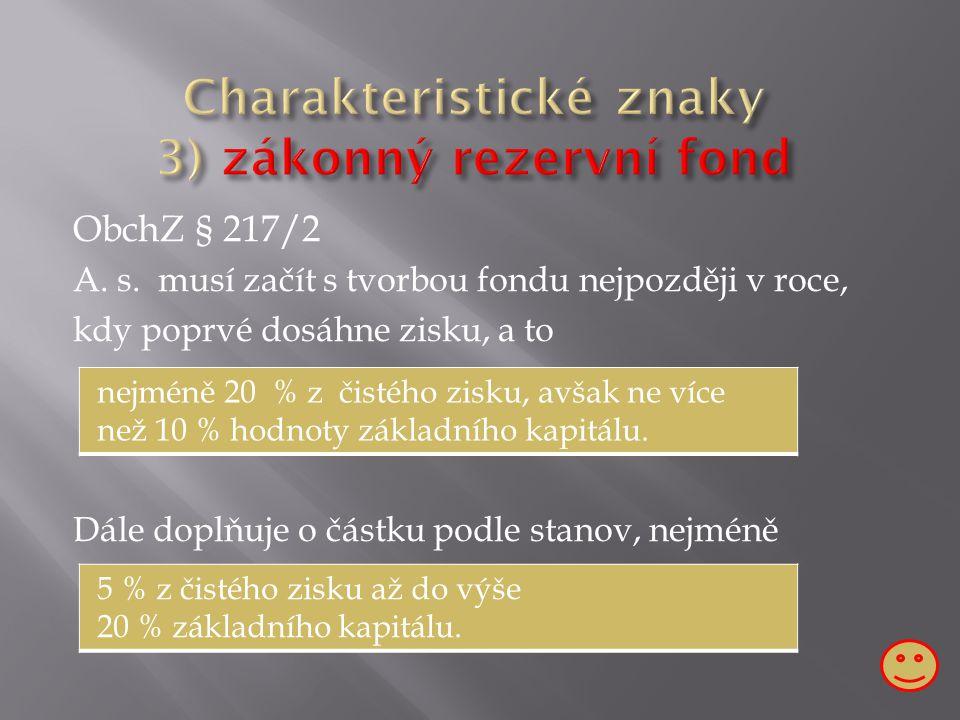 ObchZ § 217/2 A. s.