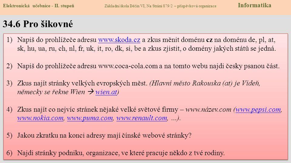 34.6 Pro šikovné Elektronická učebnice - II.