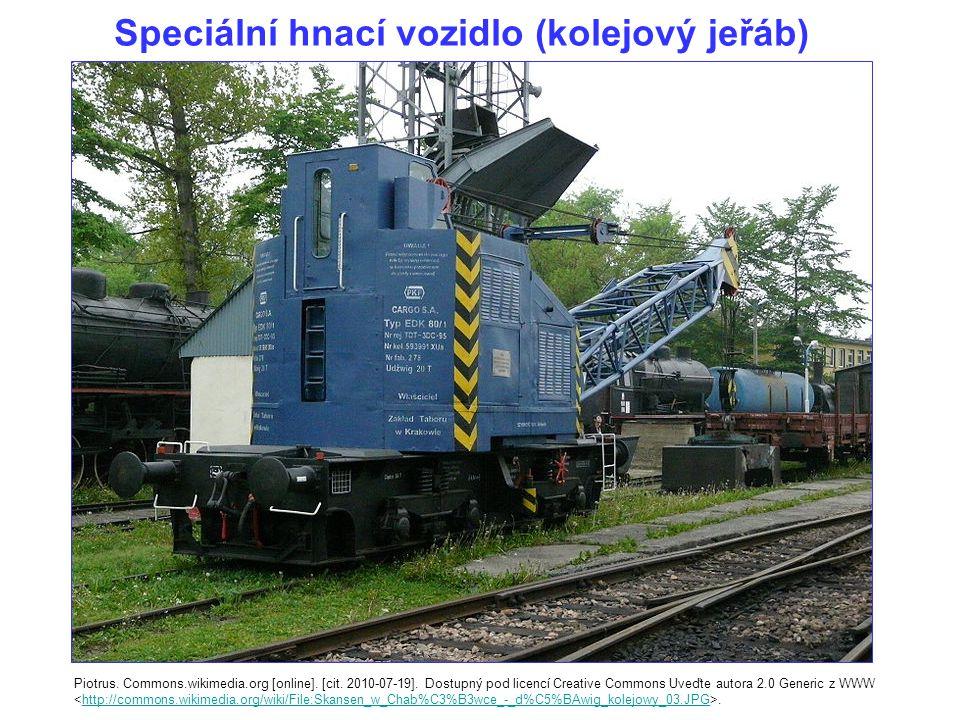 Speciální hnací vozidlo (kolejový jeřáb) Piotrus.Commons.wikimedia.org [online].
