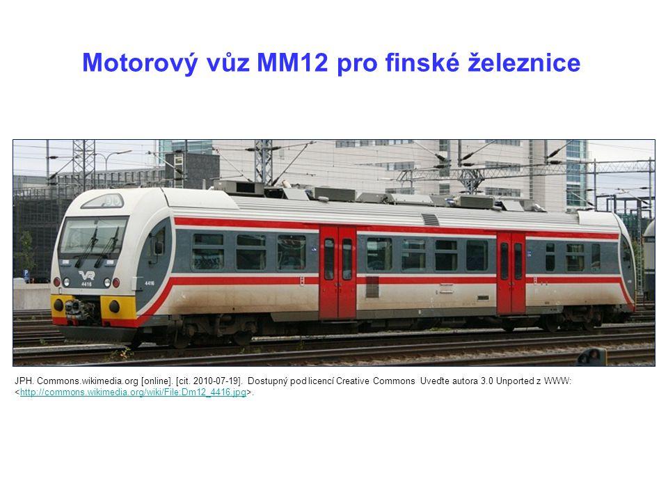 Motorový vůz MM12 pro finské železnice JPH.Commons.wikimedia.org [online].