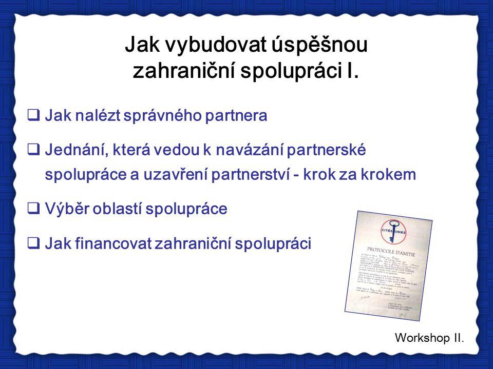 Jak vybudovat úspěšnou zahraniční spolupráci I.