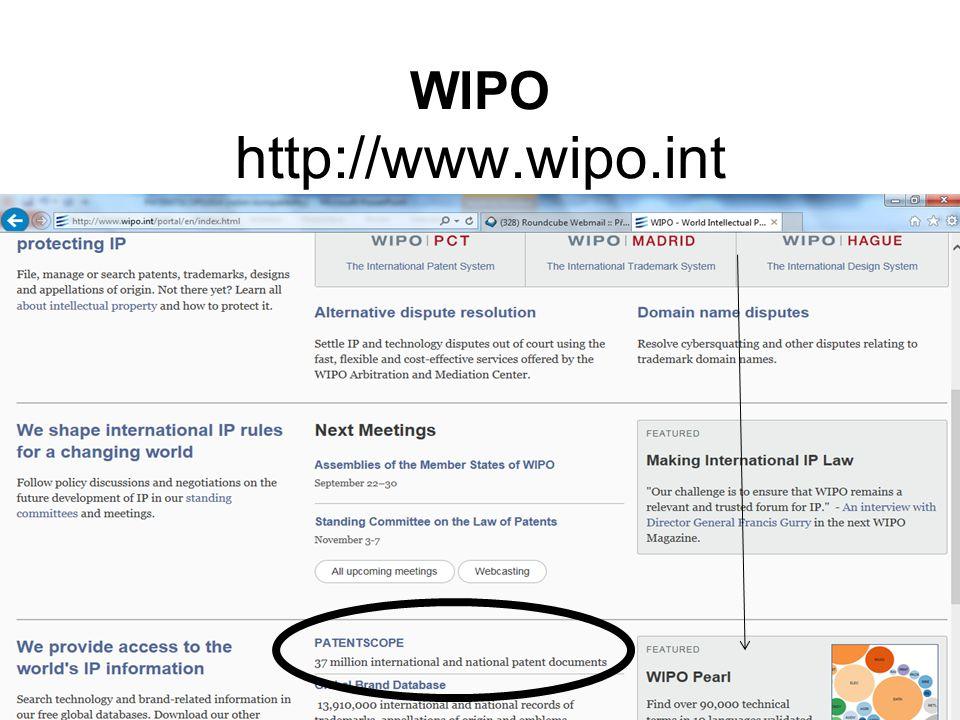 WIPO http://www.wipo.int