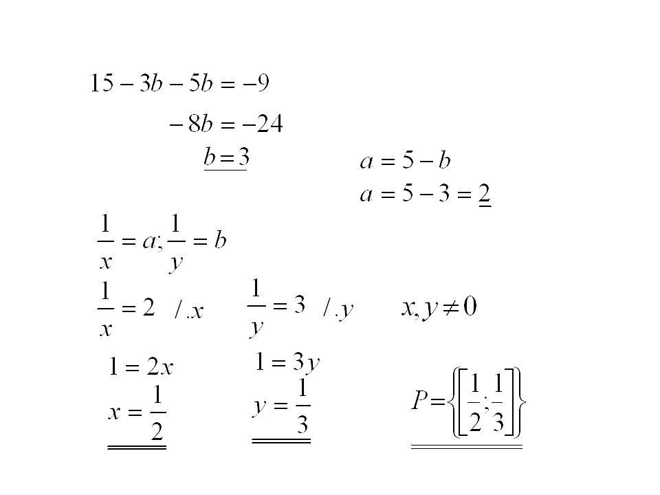 Příklad č.2: V R 2 řešte soustavu rovnic: substituce: