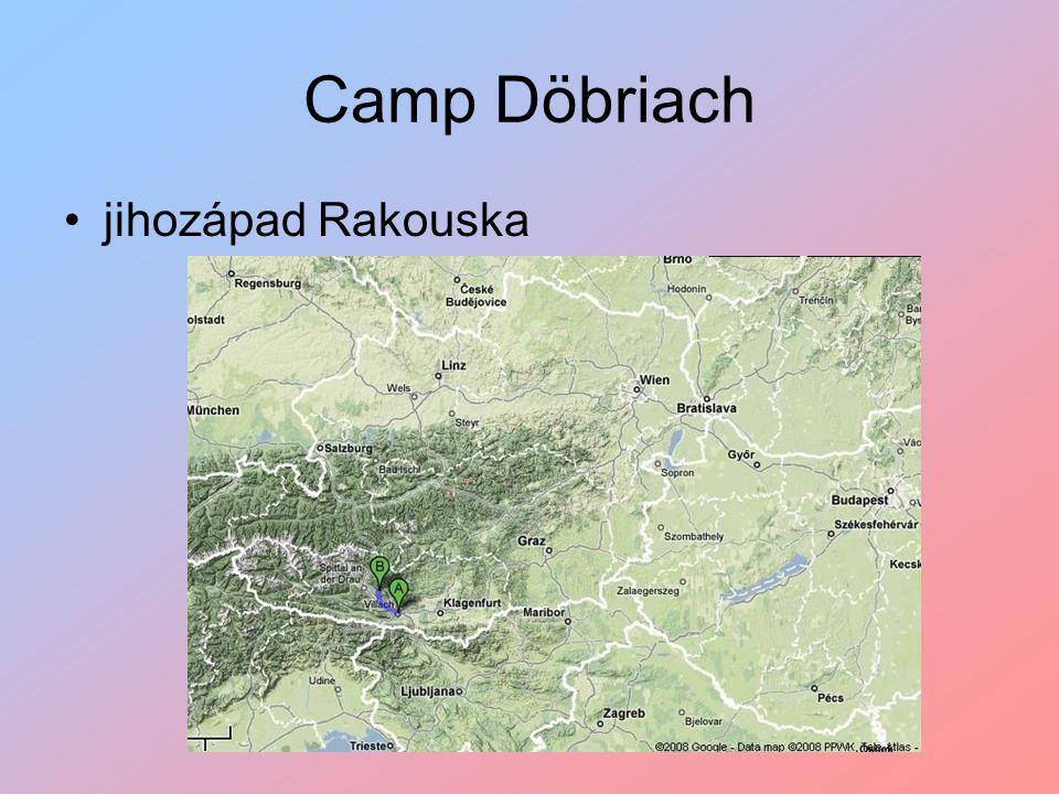 Camp Döbriach jihozápad Rakouska