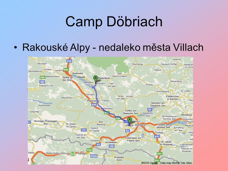 Camp Döbriach Rakouské Alpy - nedaleko města Villach