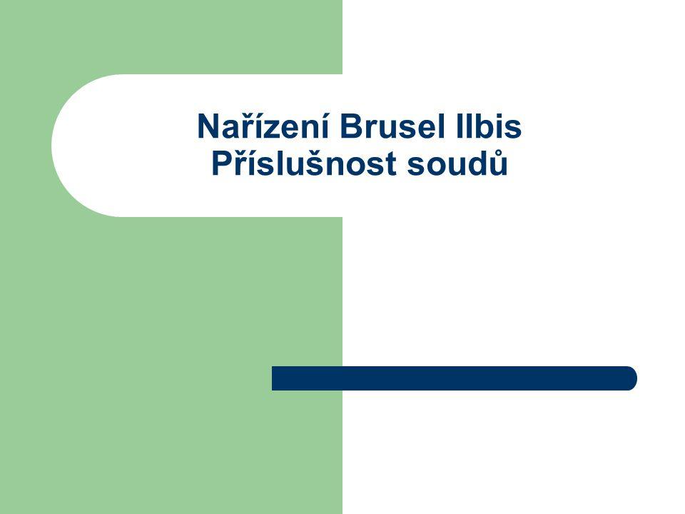 """Nařízení Brusel IIbis – Příslušnost ve věcech rozvodu, rozluky a prohlášení manželství za neplatné (věci manželské) Nařízení obecně zakládá příslušnost na těchto okolnostech: a) obvyklé bydliště, b) státní příslušnost c) domicil (UK a Irsko) Pojem """"obvyklého bydliště (habitually resident) musí být vykládán autonomně, může být chápán jako """"trvalé a obvyklé centrum zájmů osoby zvolené touto osobou s cílem trvale zde pobývat ."""