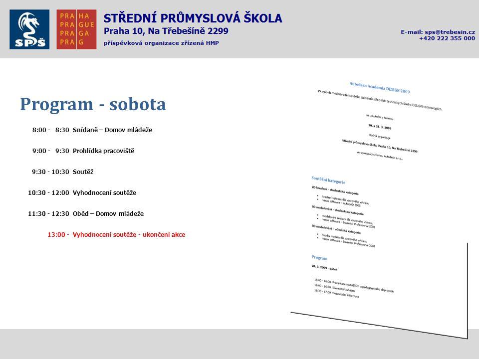Program - sobota