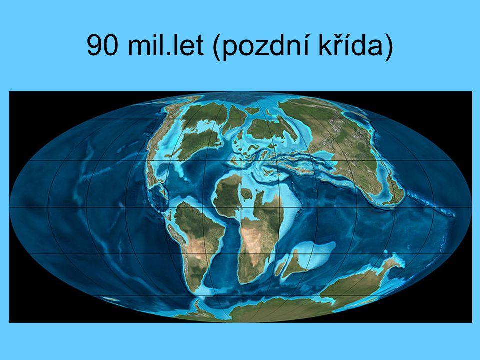 90 mil.let (pozdní křída)