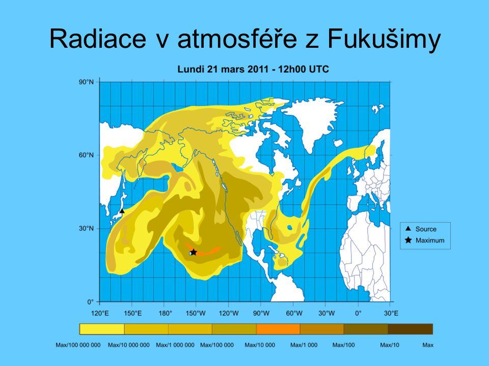 Radiace v atmosféře z Fukušimy