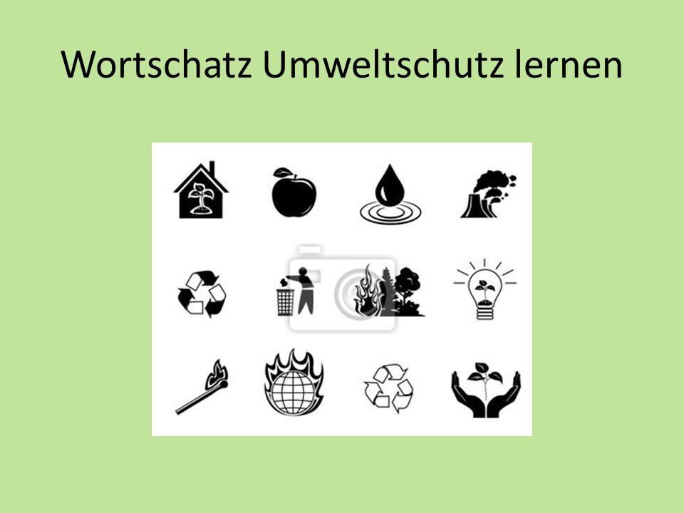 Wortschatz Umweltschutz lernen
