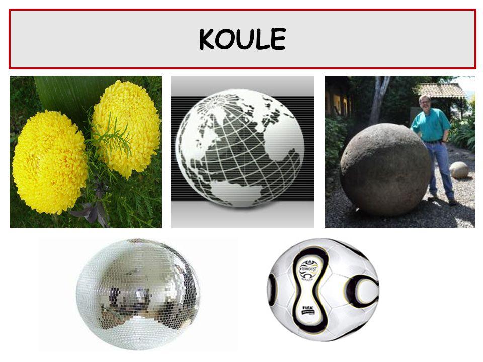 + S … střed koule r … poloměr koule S Koule je množina všech bodů v prostoru, které mají od jejího středu S vzdálenost menší nebo rovnou poloměru r.