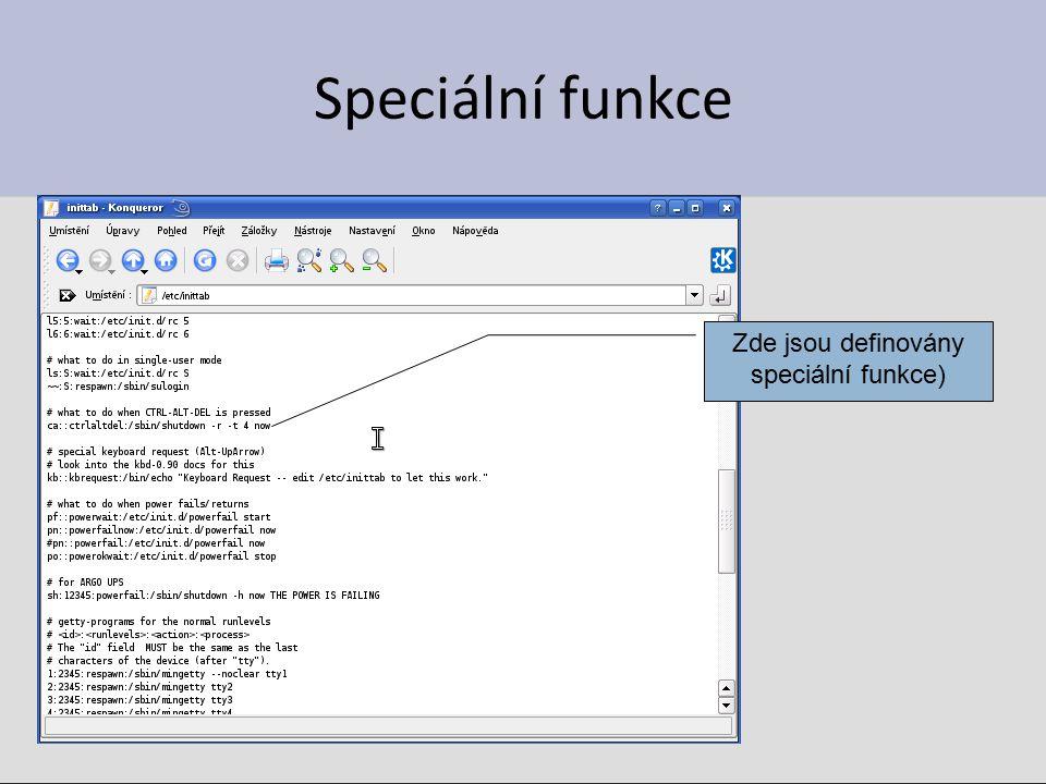 Speciální funkce Zde jsou definovány speciální funkce)