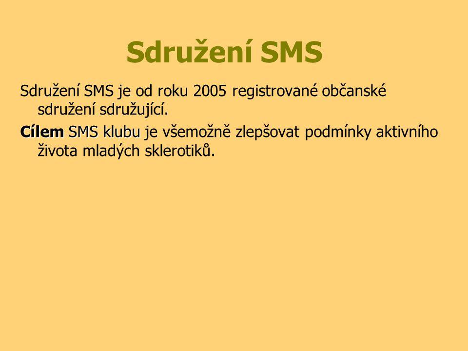 Sdružení SMS Sdružení SMS je od roku 2005 registrované občanské sdružení sdružující. Cílem SMS klubu Cílem SMS klubu je všemožně zlepšovat podmínky ak