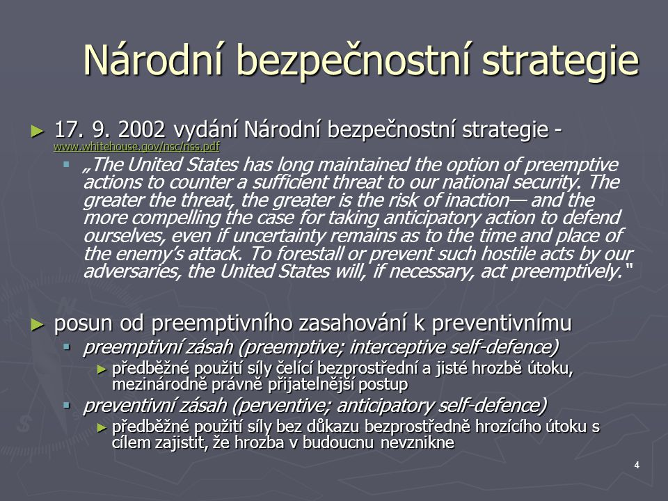 5 vývoj událostí ► 29.ledna 2002 – Zpráva o stavu unie ► 17.