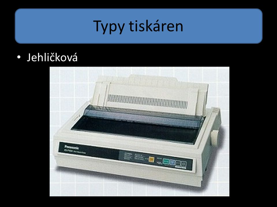 Typy tiskáren Jehličková