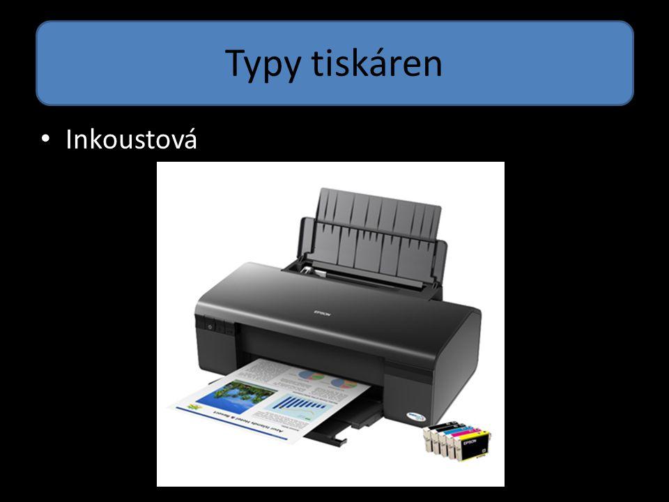 Typy tiskáren Inkoustová