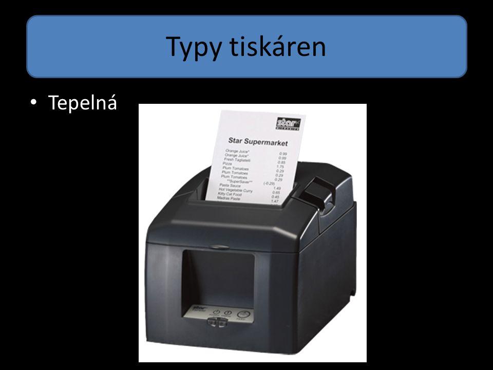 Typy tiskáren Tepelná