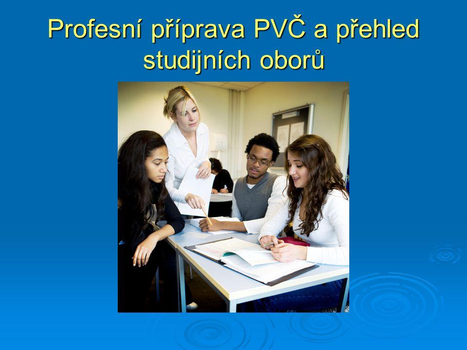 Profesní příprava PVČ a přehled studijních oborů