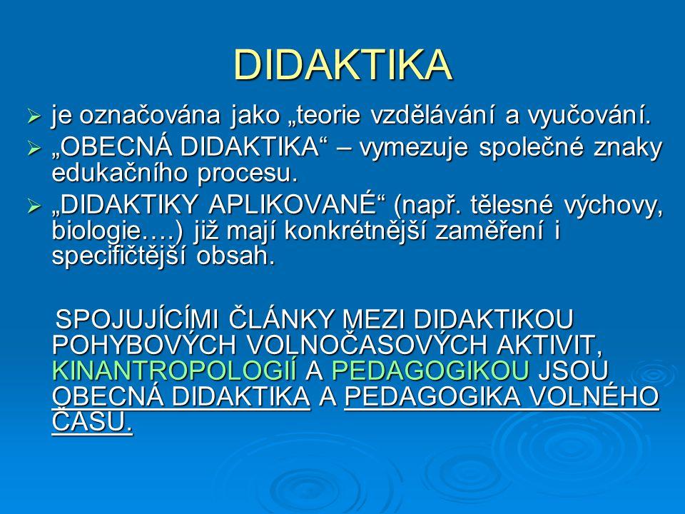 """DIDAKTIKA  slovo didaktika je řeckého původu, znamená učit, vyučovat, dokazovat  didaktiku jako umění vyučovat chápali už např.J.A.Komenský (Didaktiká velká- """"všeobecné umění, jak naučit všechny všemu , """"Škola hrou )  didaktiku jako teorii vyučování objasňoval J.F.Herbart (""""herbartismus )  Didaktiku jako teorii vzdělání označuje O.Willmann"""