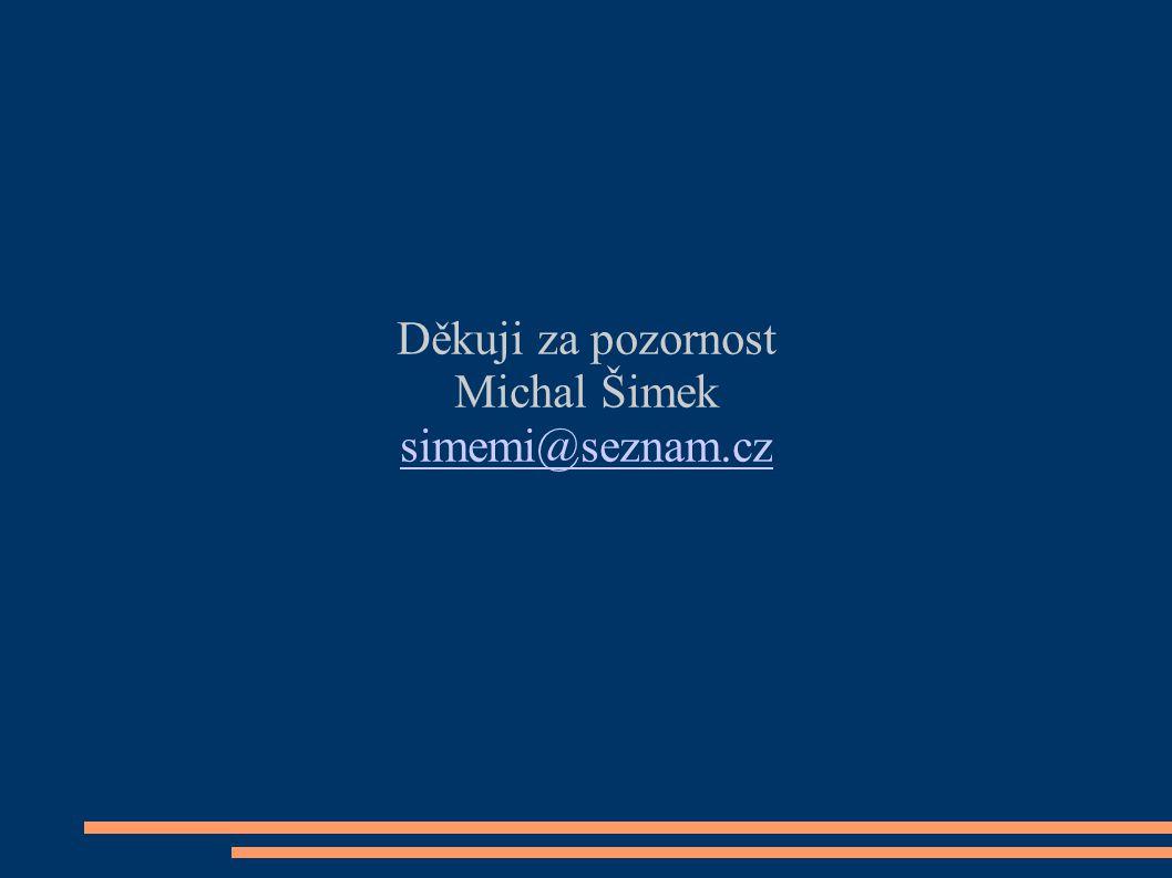 Děkuji za pozornost Michal Šimek simemi@seznam.cz