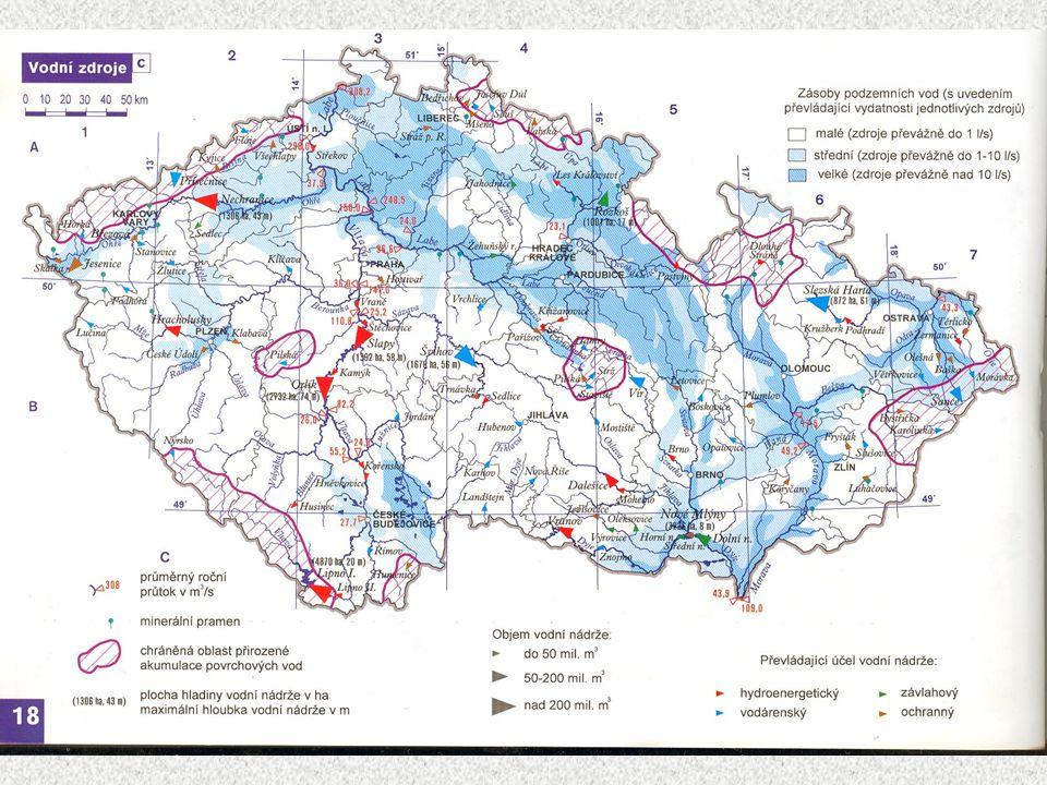 Význam přehradních nádrží: 1.ochrana proti povodním 2. odběry vody pro průmysl 3. zemědělské závlahy 4. výroba elektřiny 5. zesplavnění toků 6. rekrea