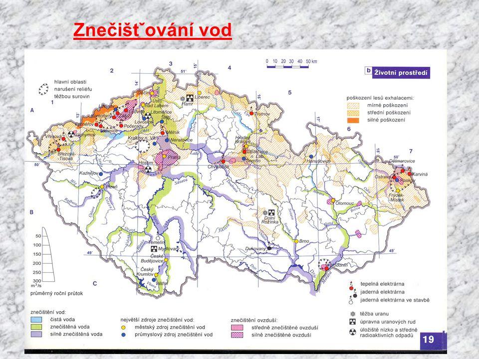 Podzemní vody: Zásoby nerovnoměrné Nejvíce: Česká tabule, Podkrušnohorské a Jihočeské pánve, Ostravská pánev Minerální vody: podzemní vody s vyšším ob