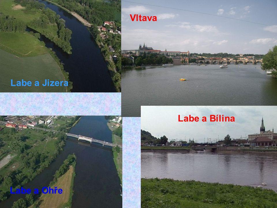 Najdi na mapě v atlase následující řeky a jejich přítoky: Labe: Úpa, Orlice, Loučná, Vltava, Ohře, Bílina Cidlina, Jizera, Ploučnice Soutok Labe a Vlt