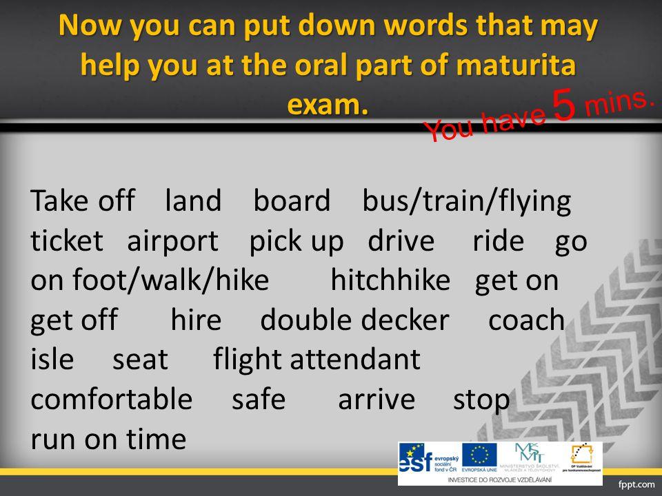 Maturita questions… Otevřené maturitní otázky Cestování: Do you like travelling.