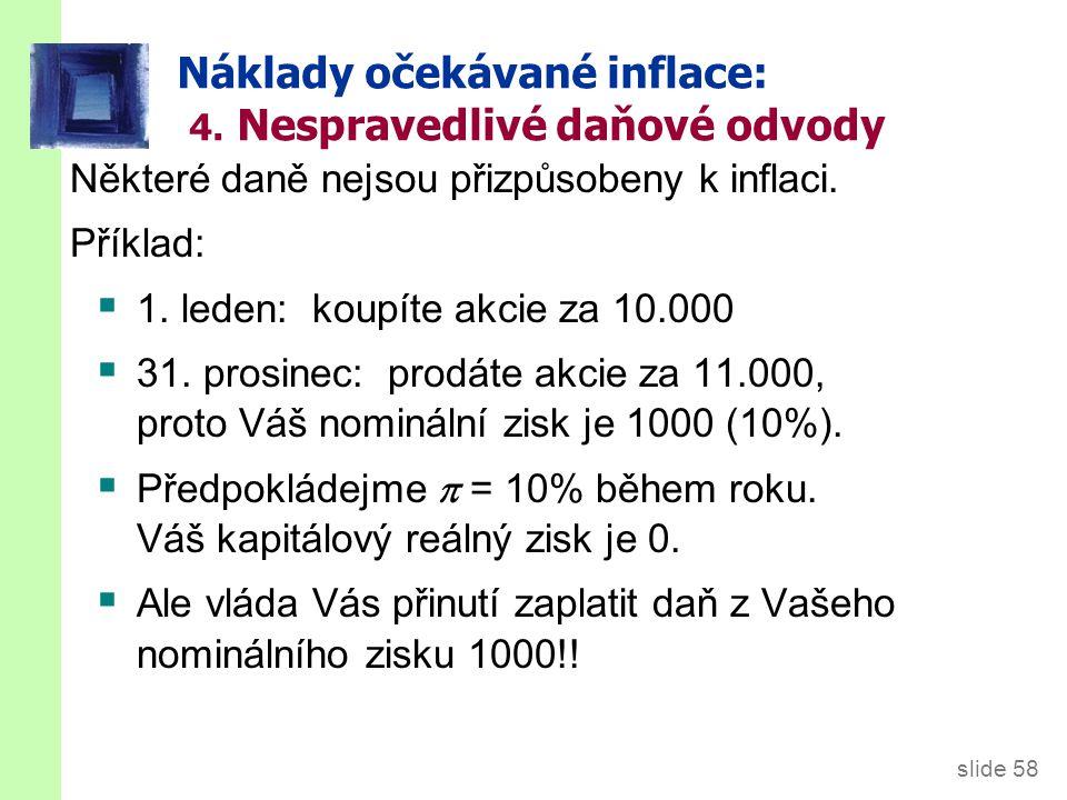 slide 58 Náklady očekávané inflace: 4.