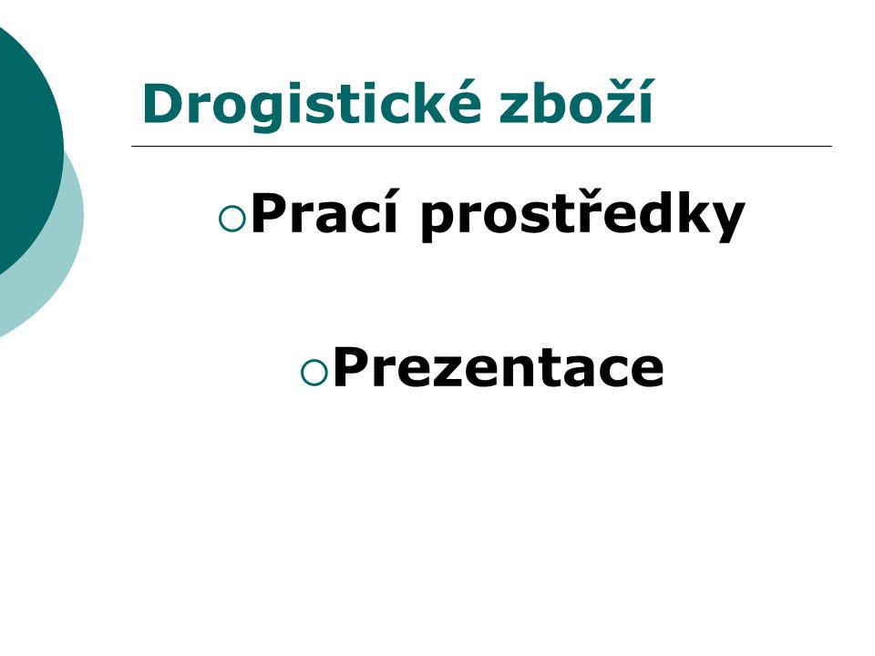 Drogistické zboží  Prací prostředky  Prezentace