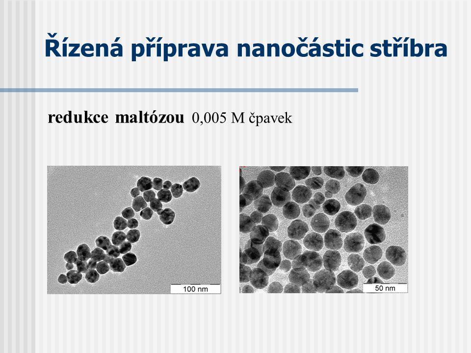 Řízená příprava nanočástic stříbra redukce maltózou 0,005 M čpavek