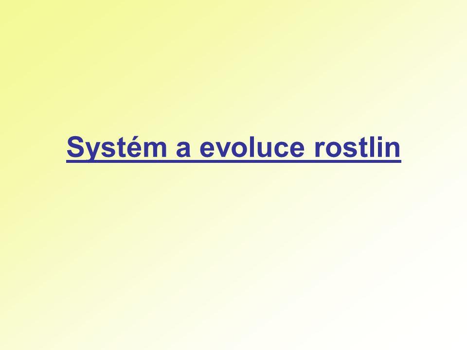 Systém a evoluce rostlin