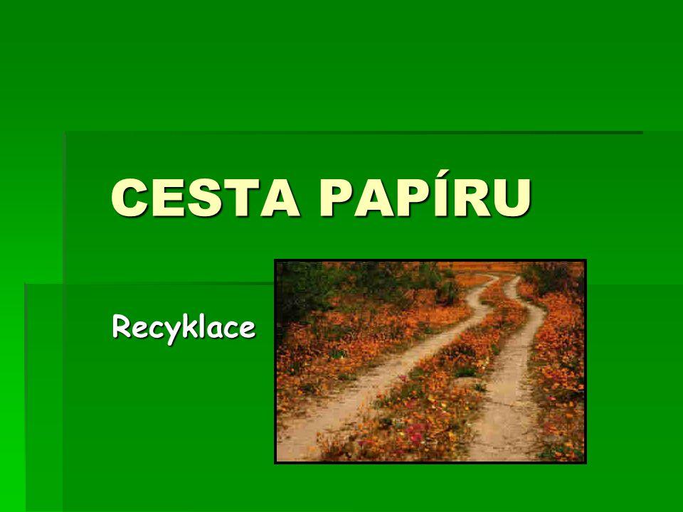 CESTA PAPÍRU Recyklace