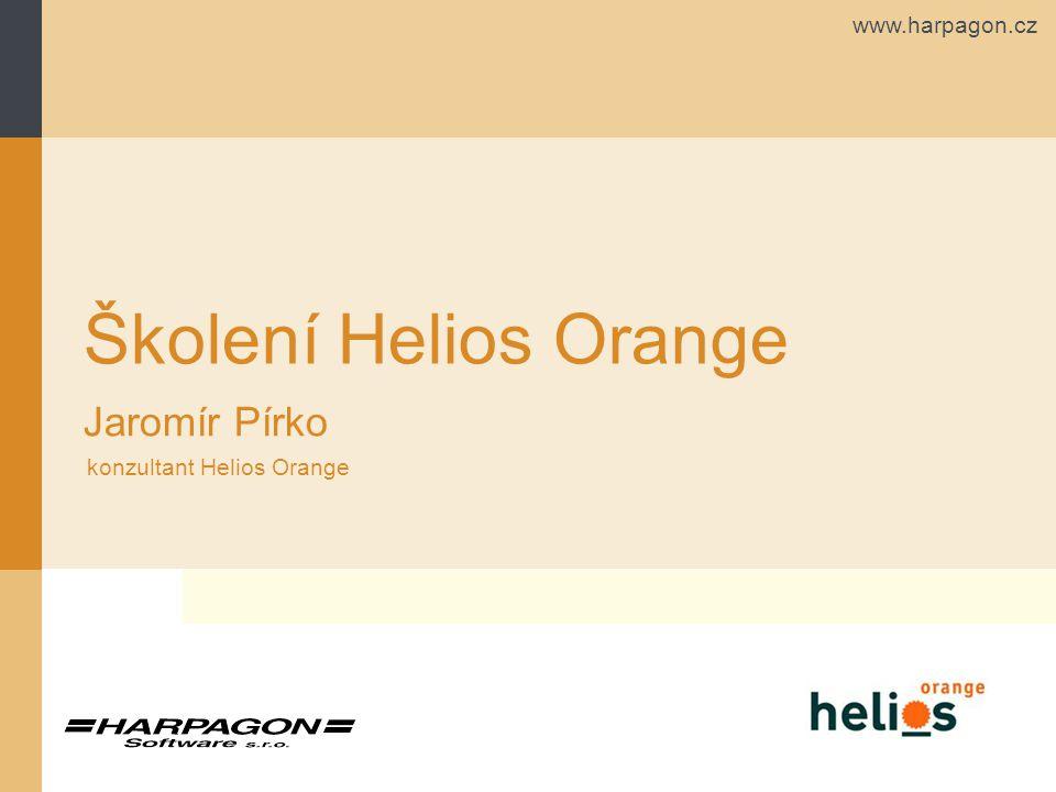 www.harpagon.cz Osnova Ovládání systému Helios Orange Možnosti zobrazení Tisk a opisy MS Office Kontingenční tabulky a grafy Další funkce Helios Orange Příručka na webu