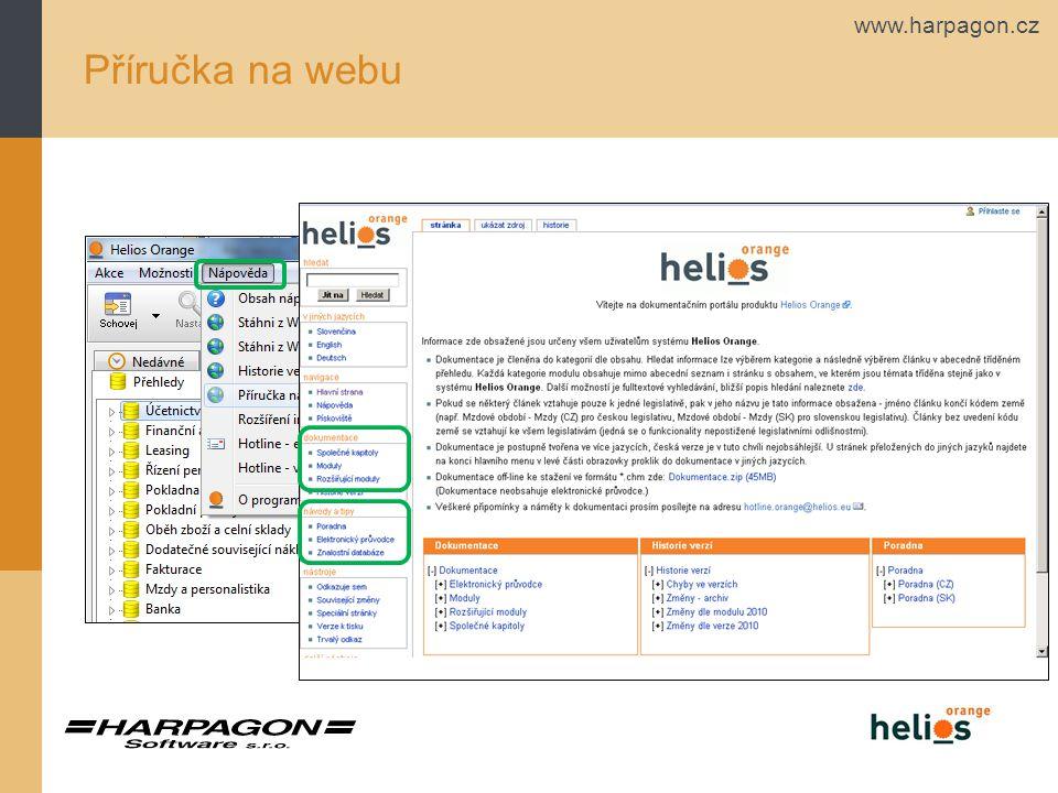 www.harpagon.cz Příručka na webu