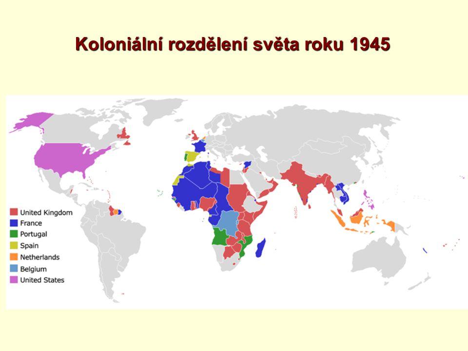 1.Dekolonizace je proces znamenající zánik koloniálních říší a vymanění kolonií z politické závislosti.