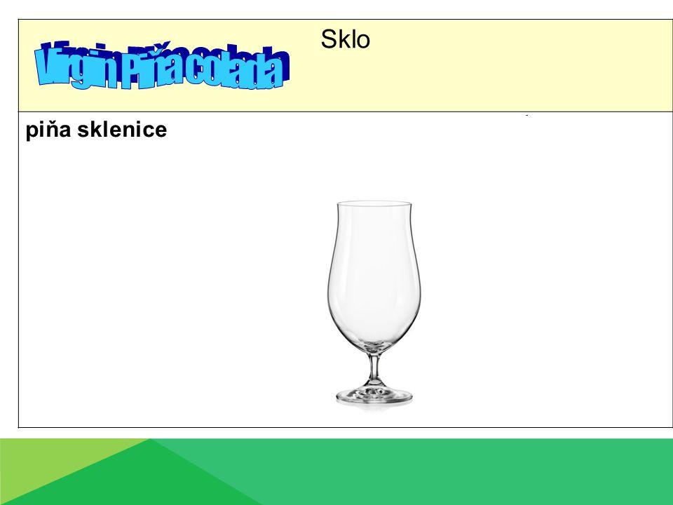 Sklo piňa sklenice
