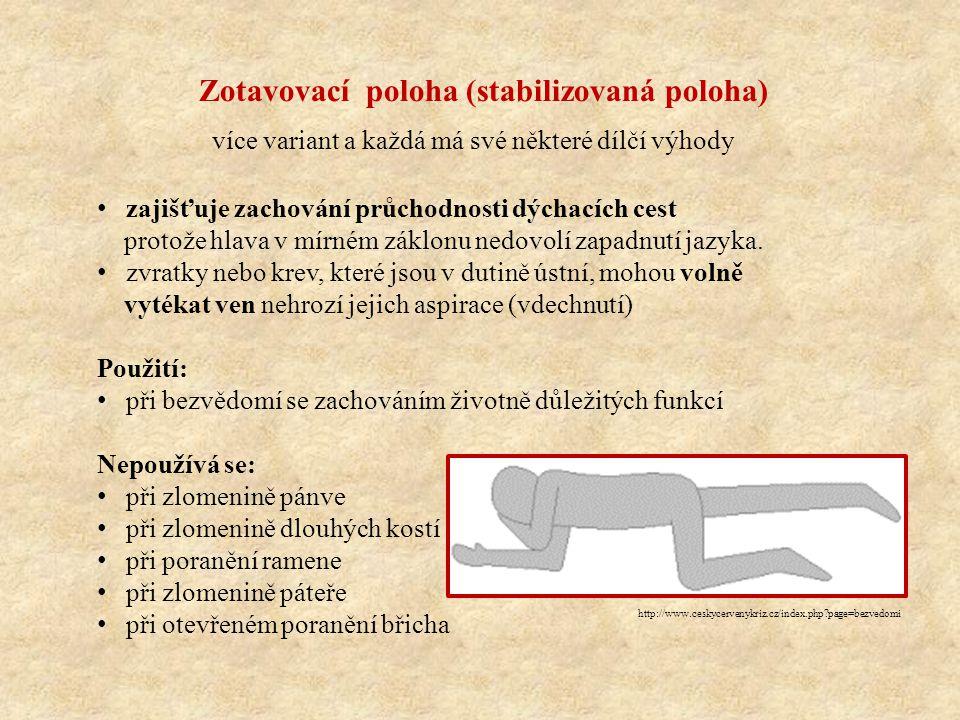http://www.ceskycervenykriz.cz/index.php?page=bezvedomi zajišťuje zachování průchodnosti dýchacích cest protože hlava v mírném záklonu nedovolí zapadn