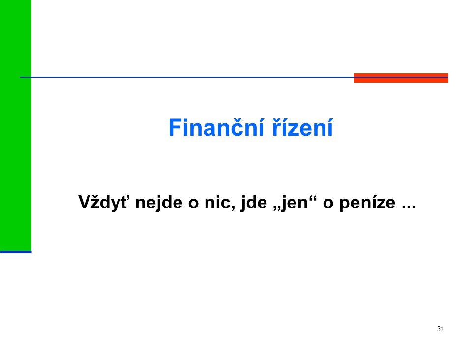"""31 Vždyť nejde o nic, jde """"jen o peníze... Finanční řízení"""