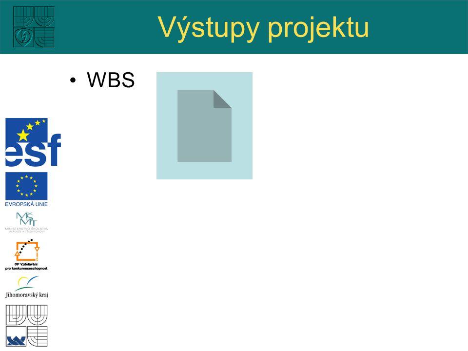 Výstupy projektu WBS