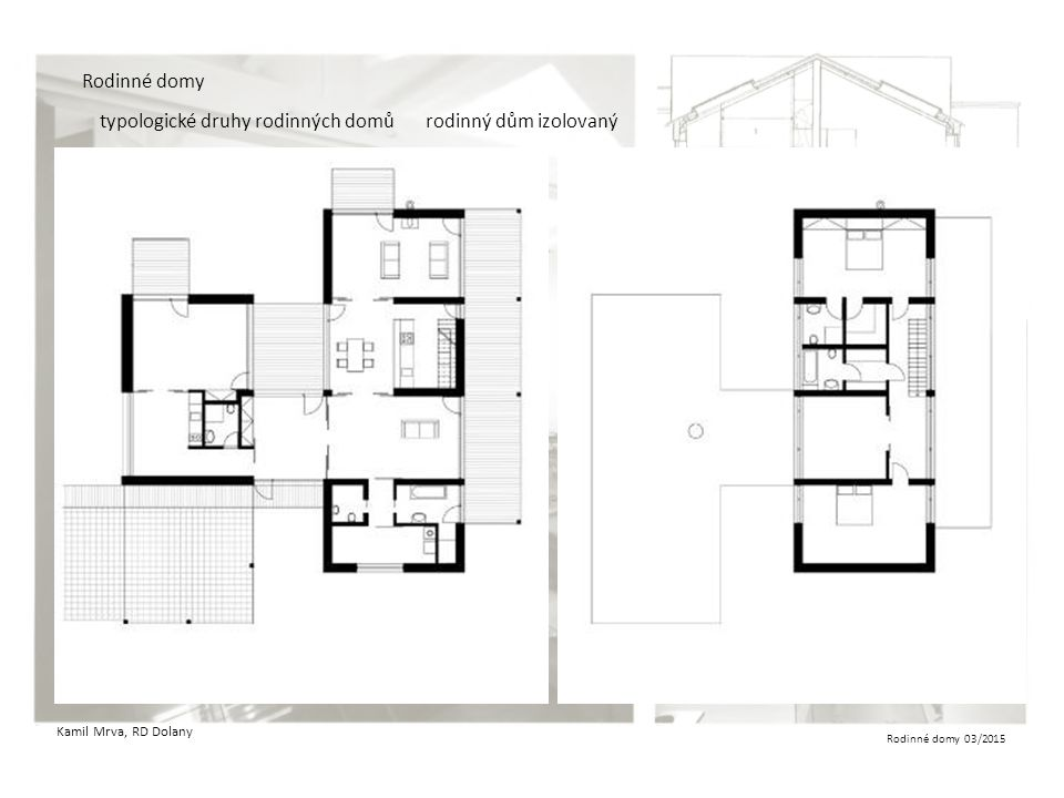 Rodinné domy 03/2015 Rodinné domy typologické druhy rodinných domůrodinný dům izolovaný Kamil Mrva, RD Dolany